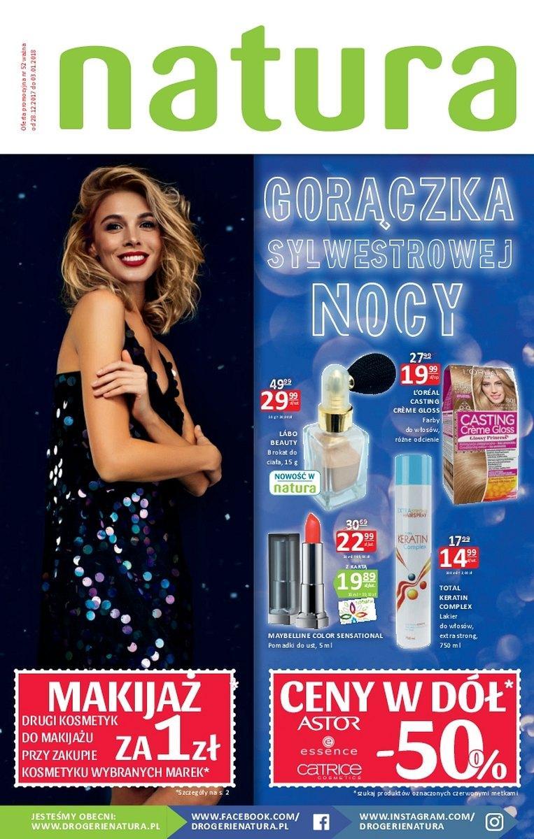 Gazetka promocyjna Drogerie Natura do 03/01/2018 str.0