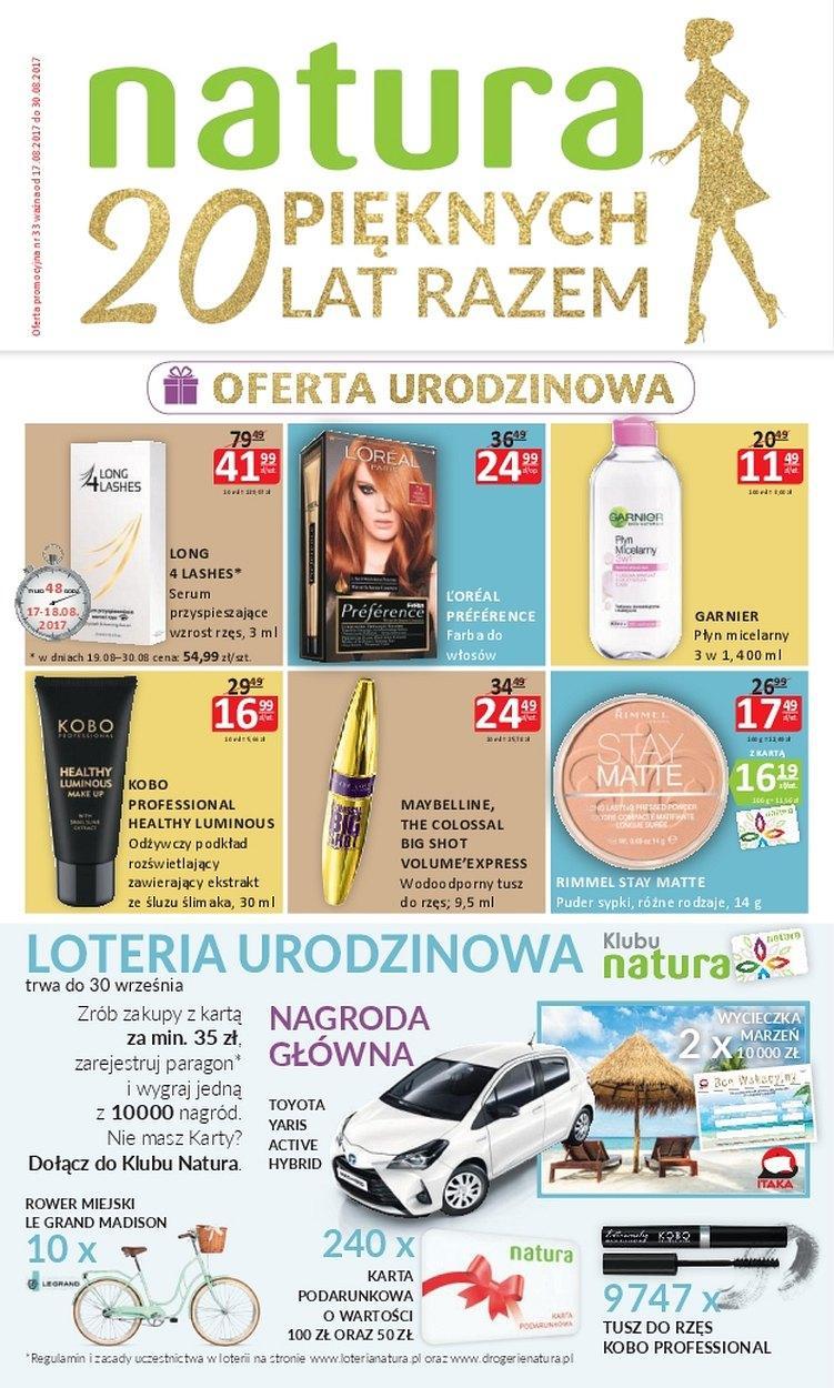 Gazetka promocyjna Drogerie Natura do 30/08/2017 str.0