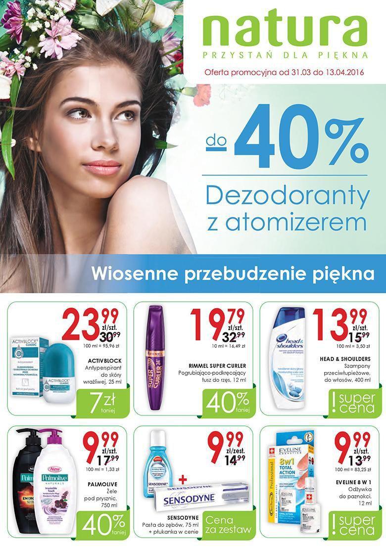Gazetka promocyjna Drogerie Natura do 13/04/2016 str.0