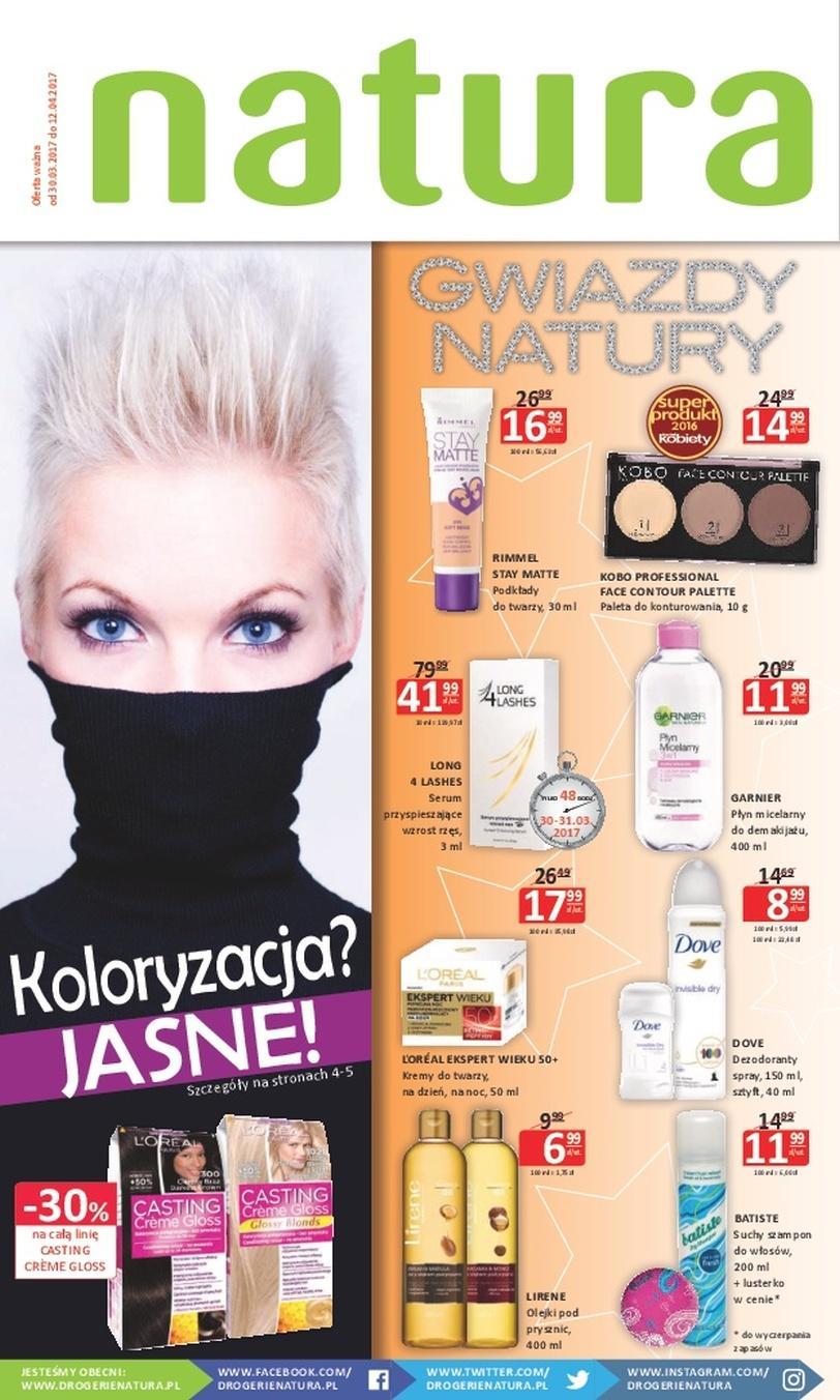 Gazetka promocyjna Drogerie Natura do 12/04/2017 str.0