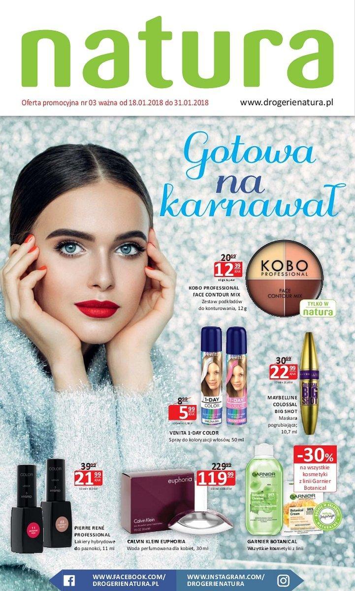 Gazetka promocyjna Drogerie Natura do 31/01/2018 str.0