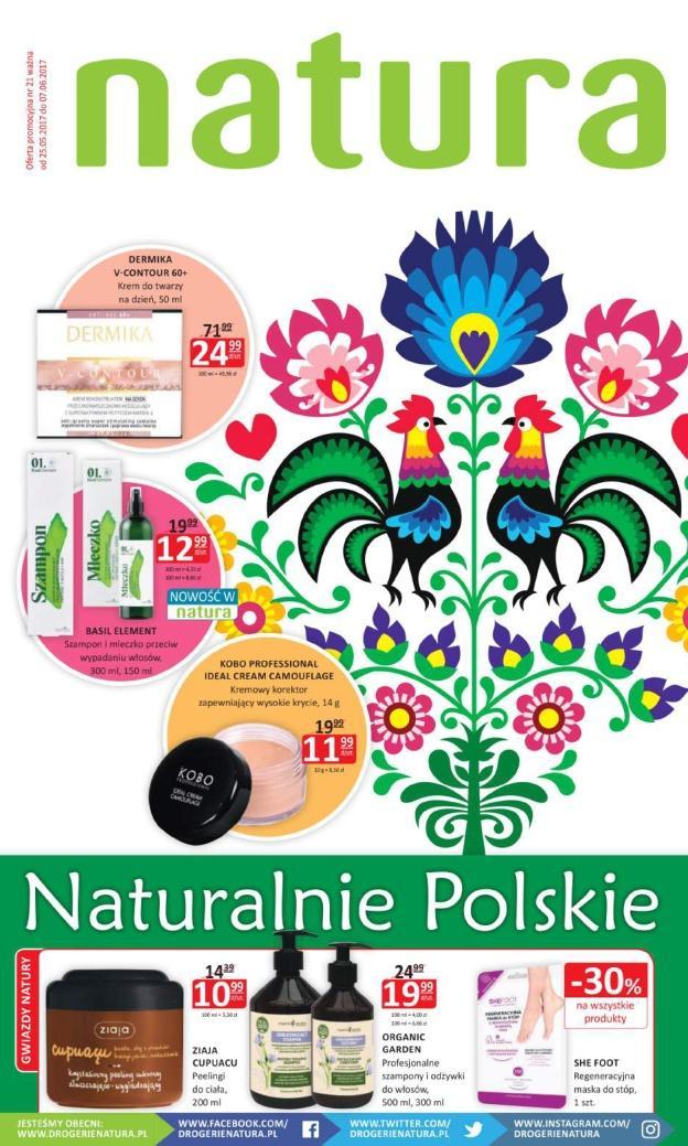 Gazetka promocyjna Drogerie Natura do 07/06/2017 str.0