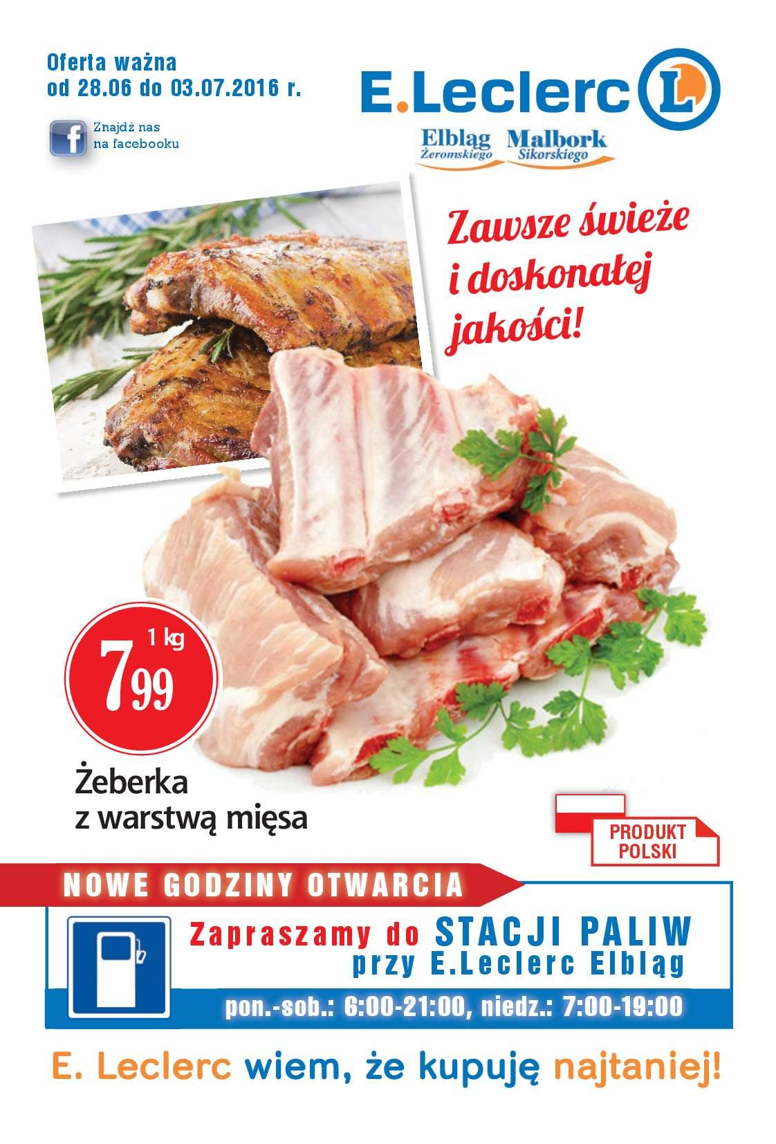 Gazetka promocyjna E.Leclerc do 03/07/2016 str.0