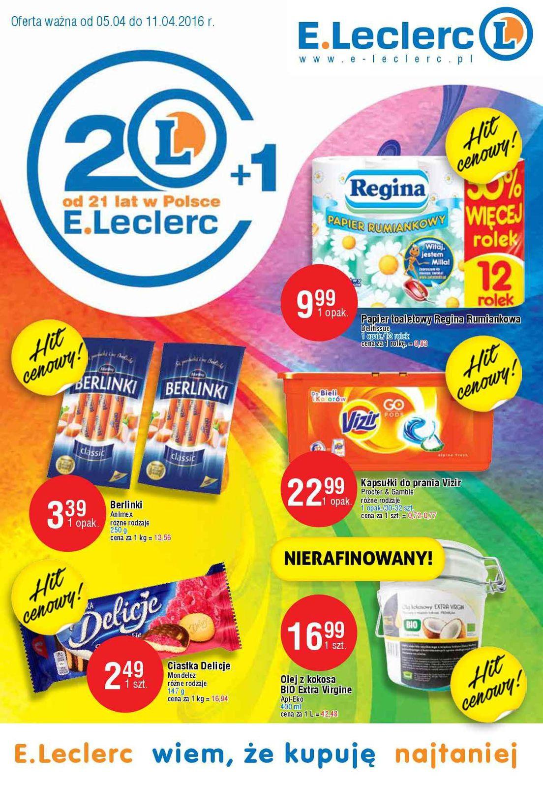 Gazetka promocyjna E.Leclerc do 11/04/2016 str.0