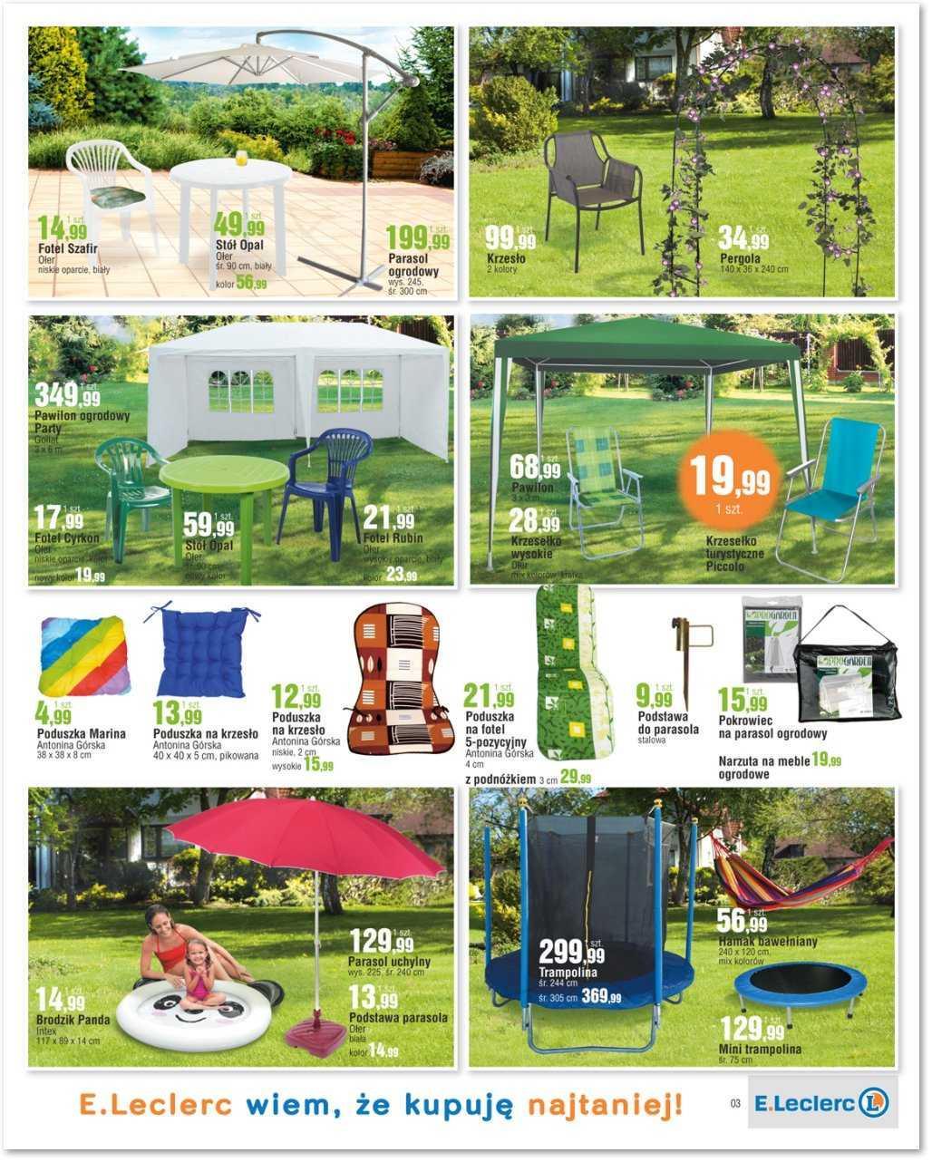 gazetka promocyjna i reklamowa e leclerc przygotuj si na lato od 04 05 2016 do 14 05 2016 s 3. Black Bedroom Furniture Sets. Home Design Ideas