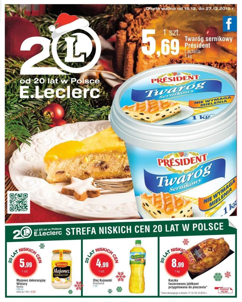 Gazetka promocyjna E.Leclerc do 27/12/2015 str.0