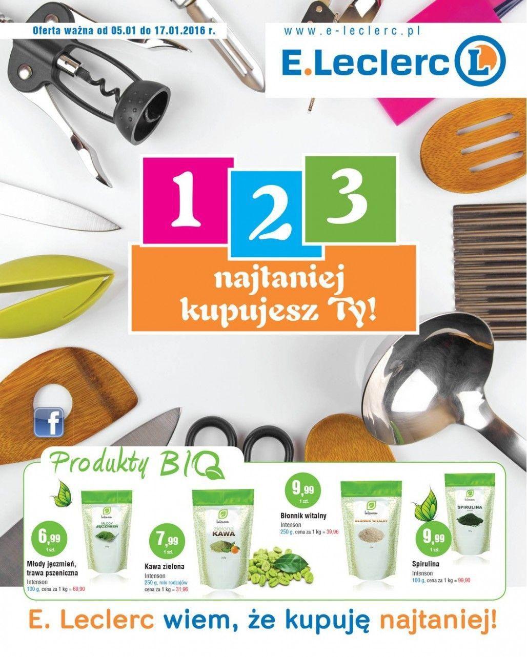Gazetka promocyjna E.Leclerc do 17/01/2016 str.0