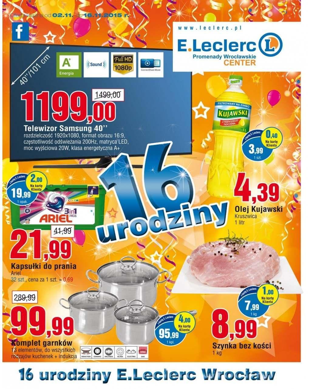 Gazetka promocyjna E.Leclerc do 16/11/2015 str.0