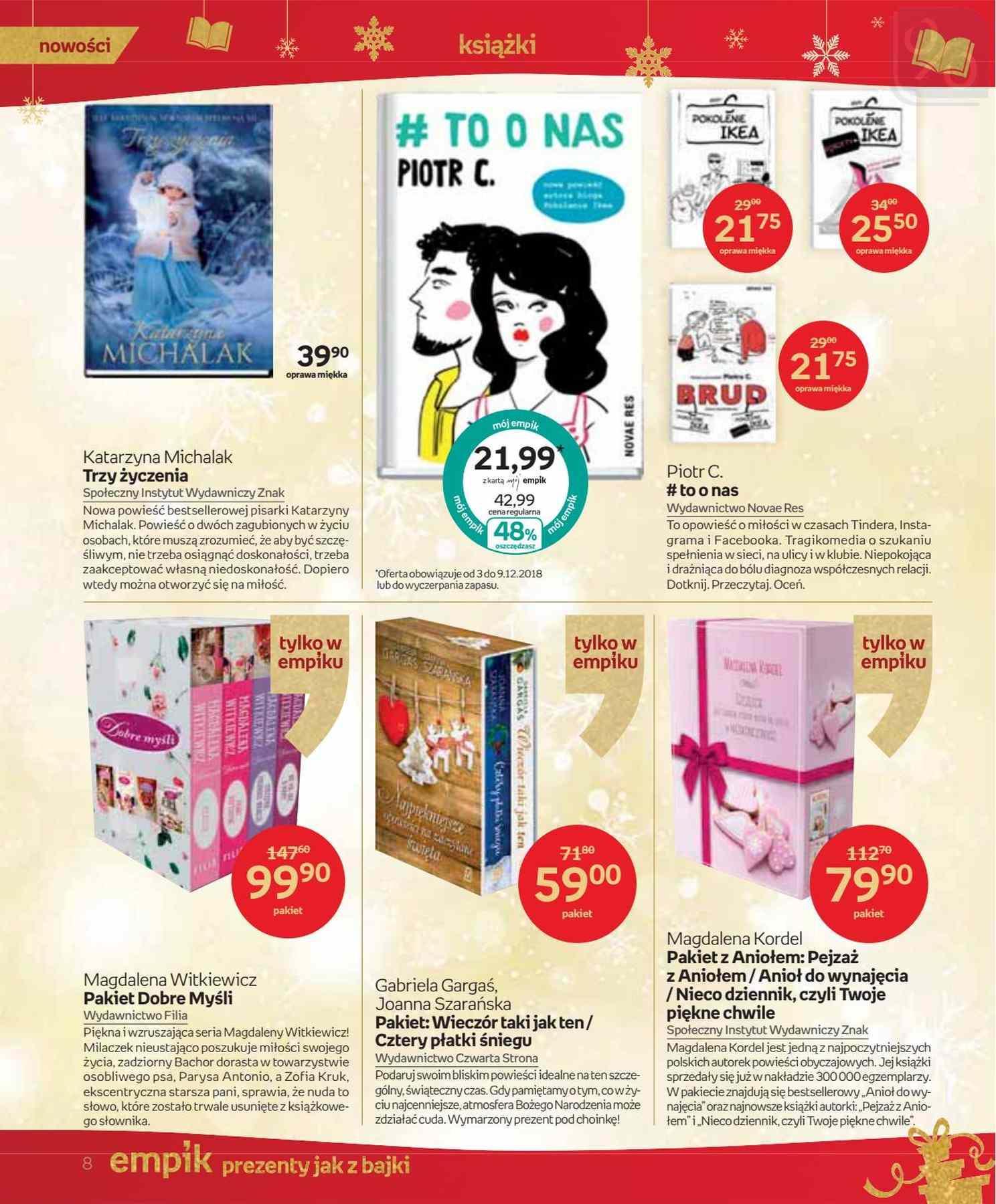 Gazetka promocyjna empik do 24/12/2018 str.8