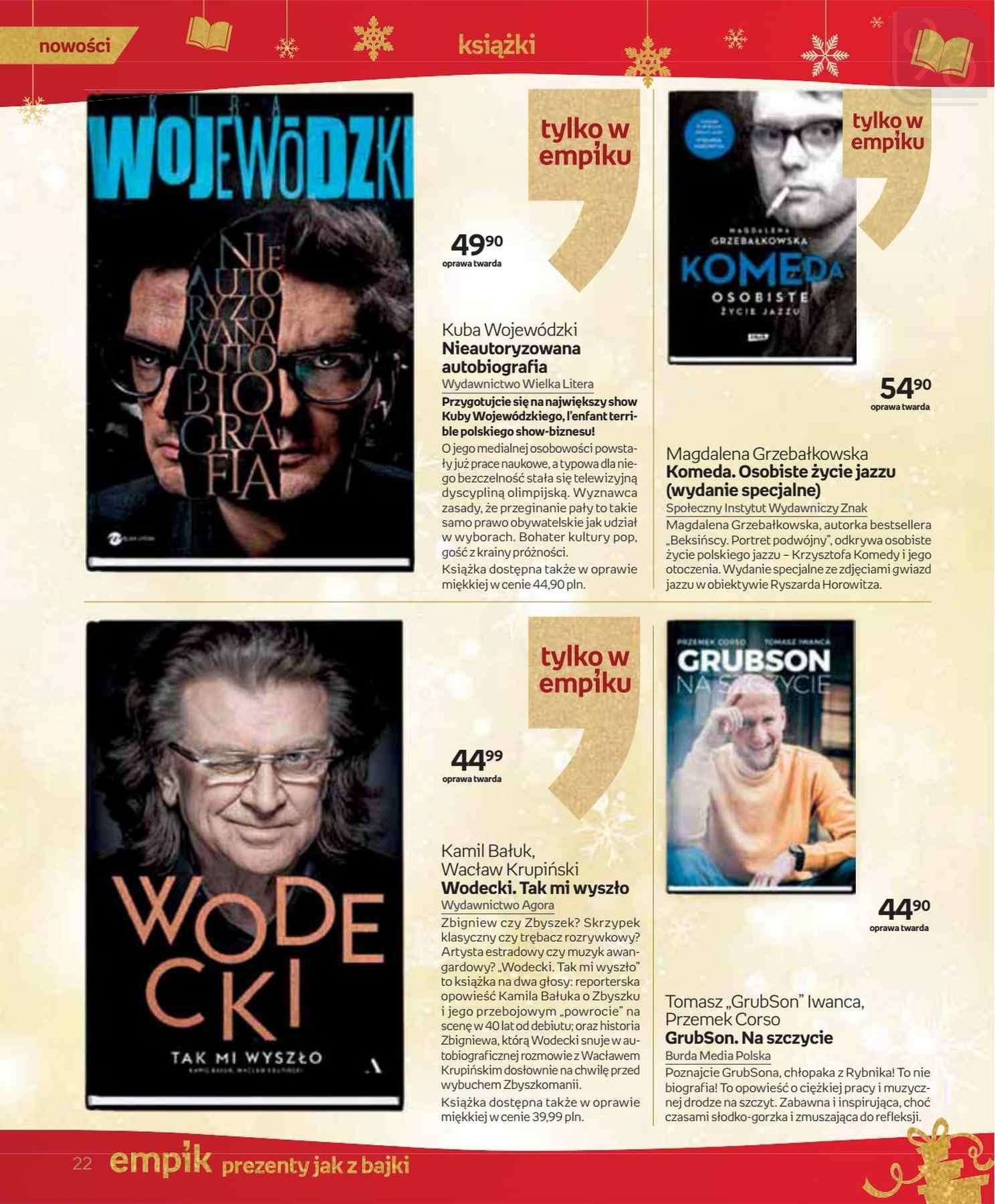 Gazetka promocyjna empik do 24/12/2018 str.22