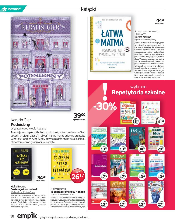 Gazetka promocyjna empik do 18/09/2018 str.18