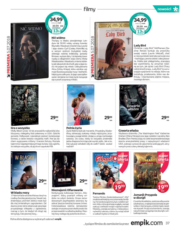 Gazetka promocyjna empik do 17/07/2018 str.37