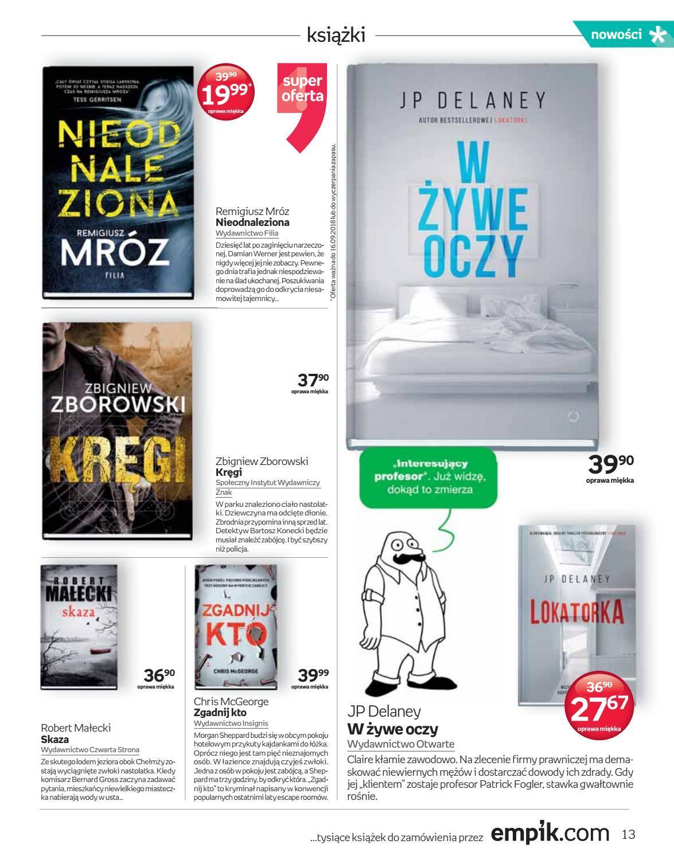 Gazetka promocyjna empik do 18/09/2018 str.13