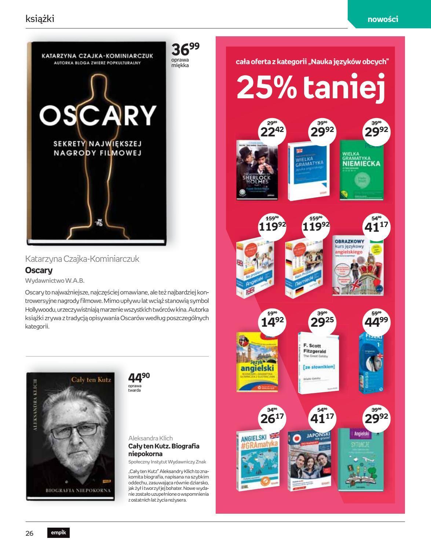 Gazetka promocyjna empik do 26/02/2019 str.25