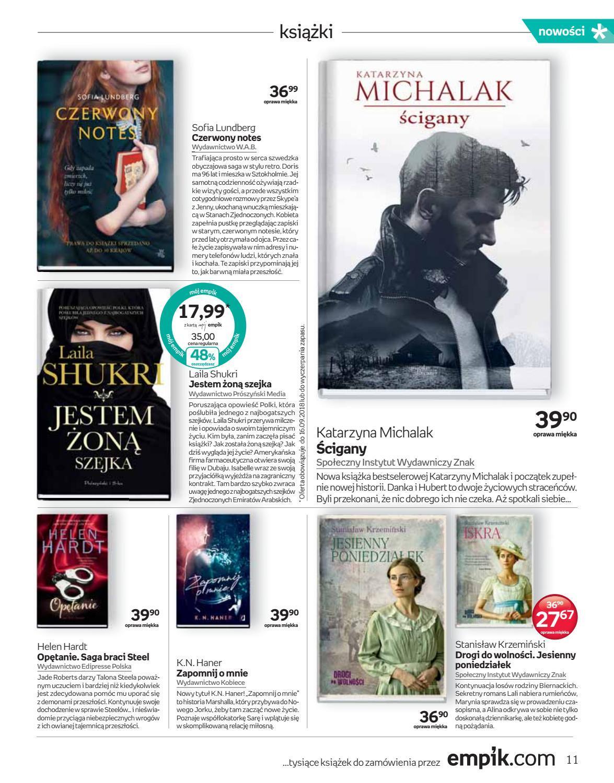 Gazetka promocyjna empik do 18/09/2018 str.11