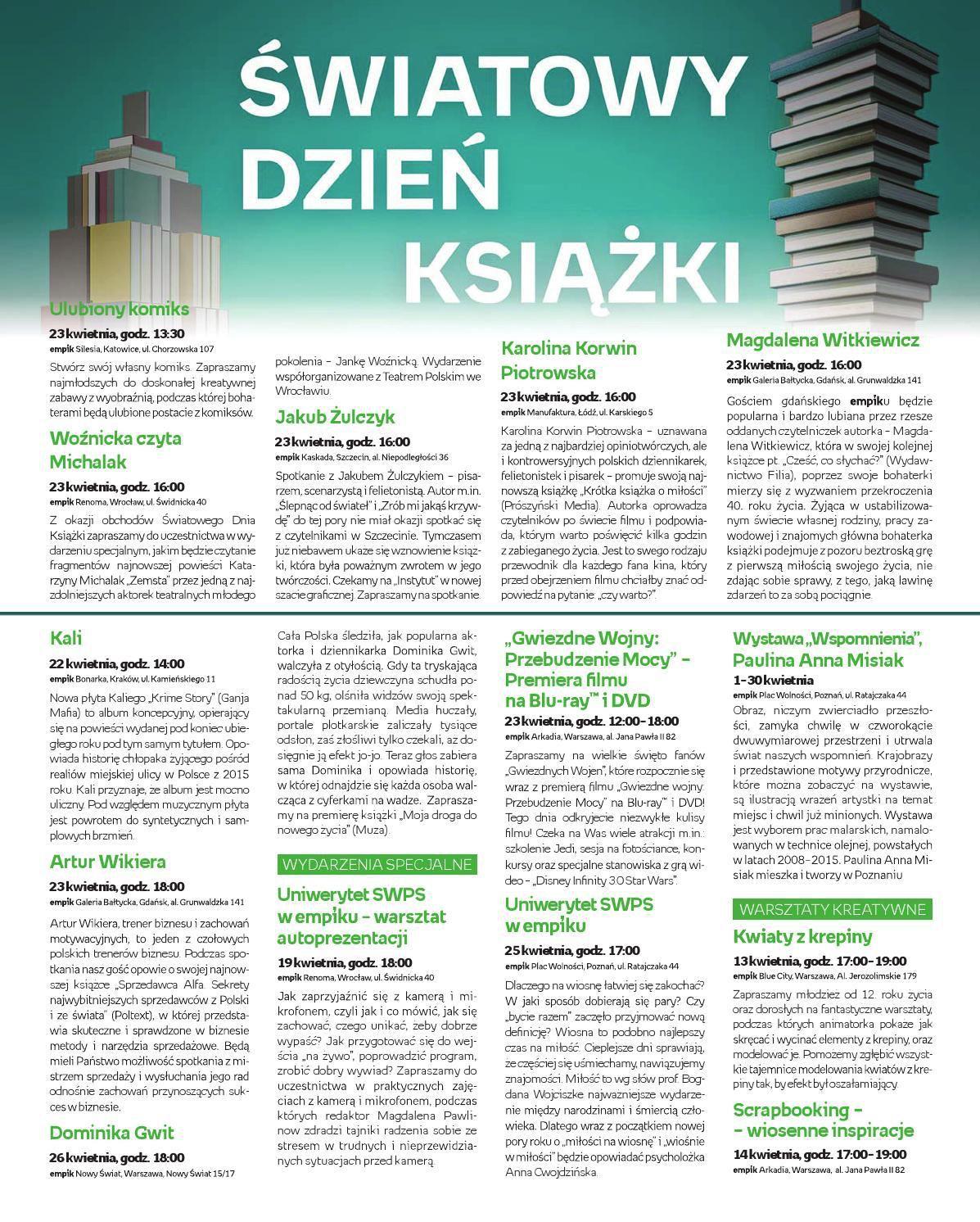 Gazetka promocyjna empik do 30/04/2016 str.0