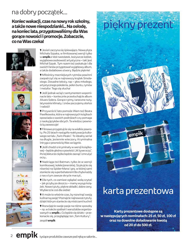 Gazetka promocyjna empik do 18/09/2018 str.2