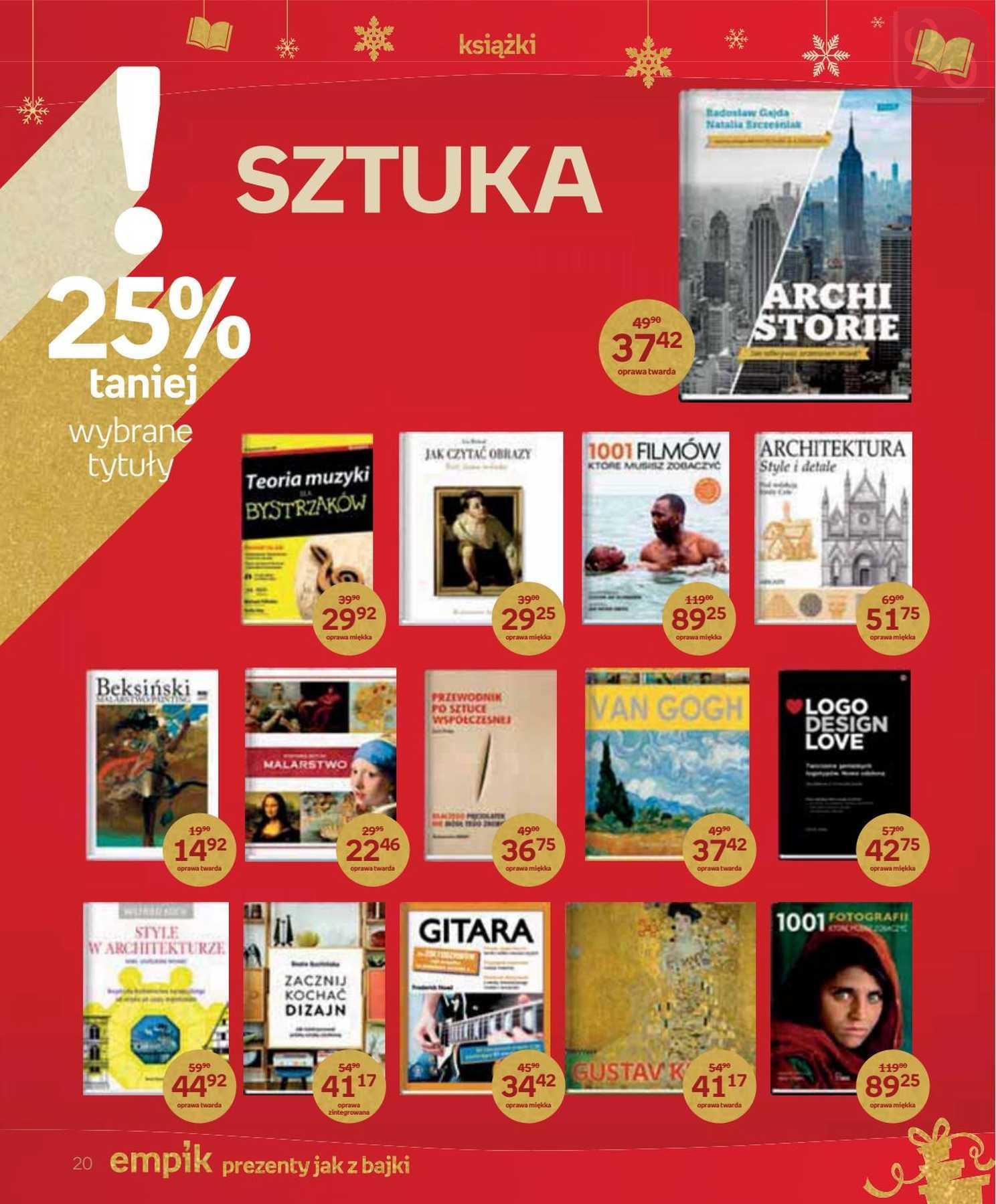 Gazetka promocyjna empik do 24/12/2018 str.20