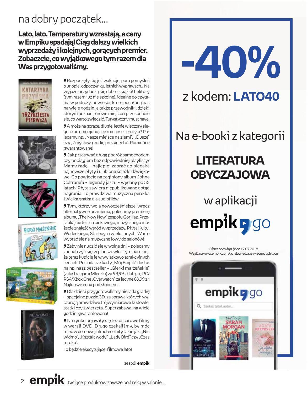Gazetka promocyjna empik do 17/07/2018 str.1