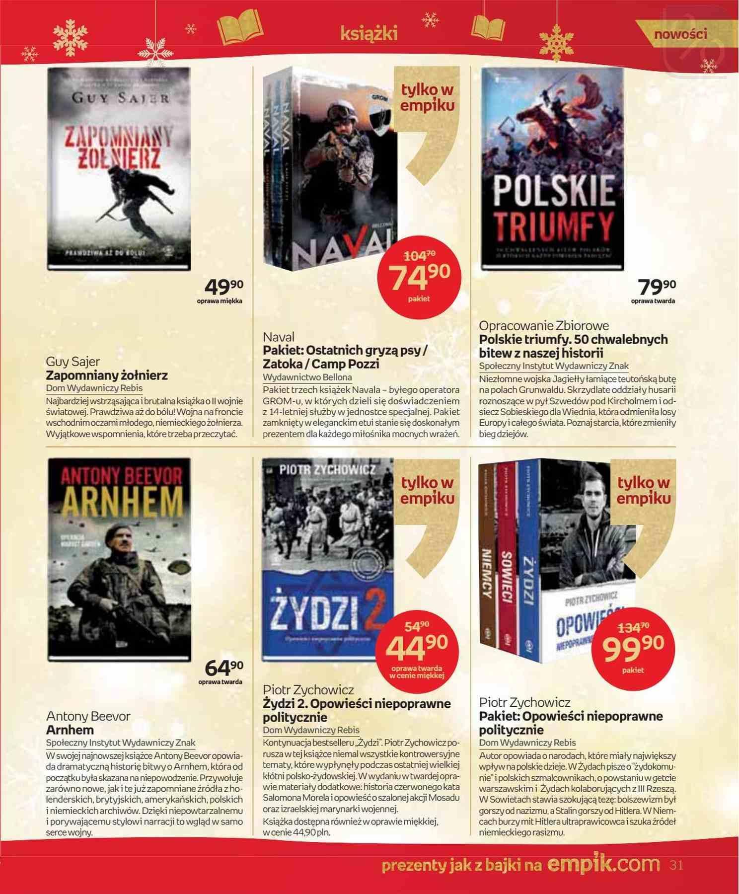 Gazetka promocyjna empik do 24/12/2018 str.31