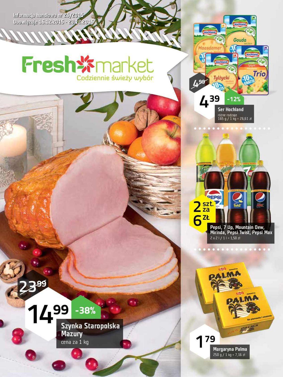 Gazetka promocyjna Freshmarket do 29/12/2015 str.0