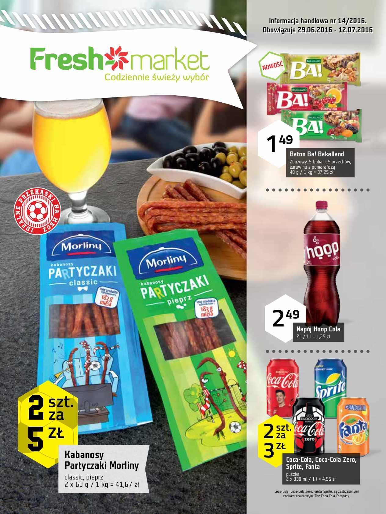 Gazetka promocyjna Freshmarket do 12/07/2016 str.0