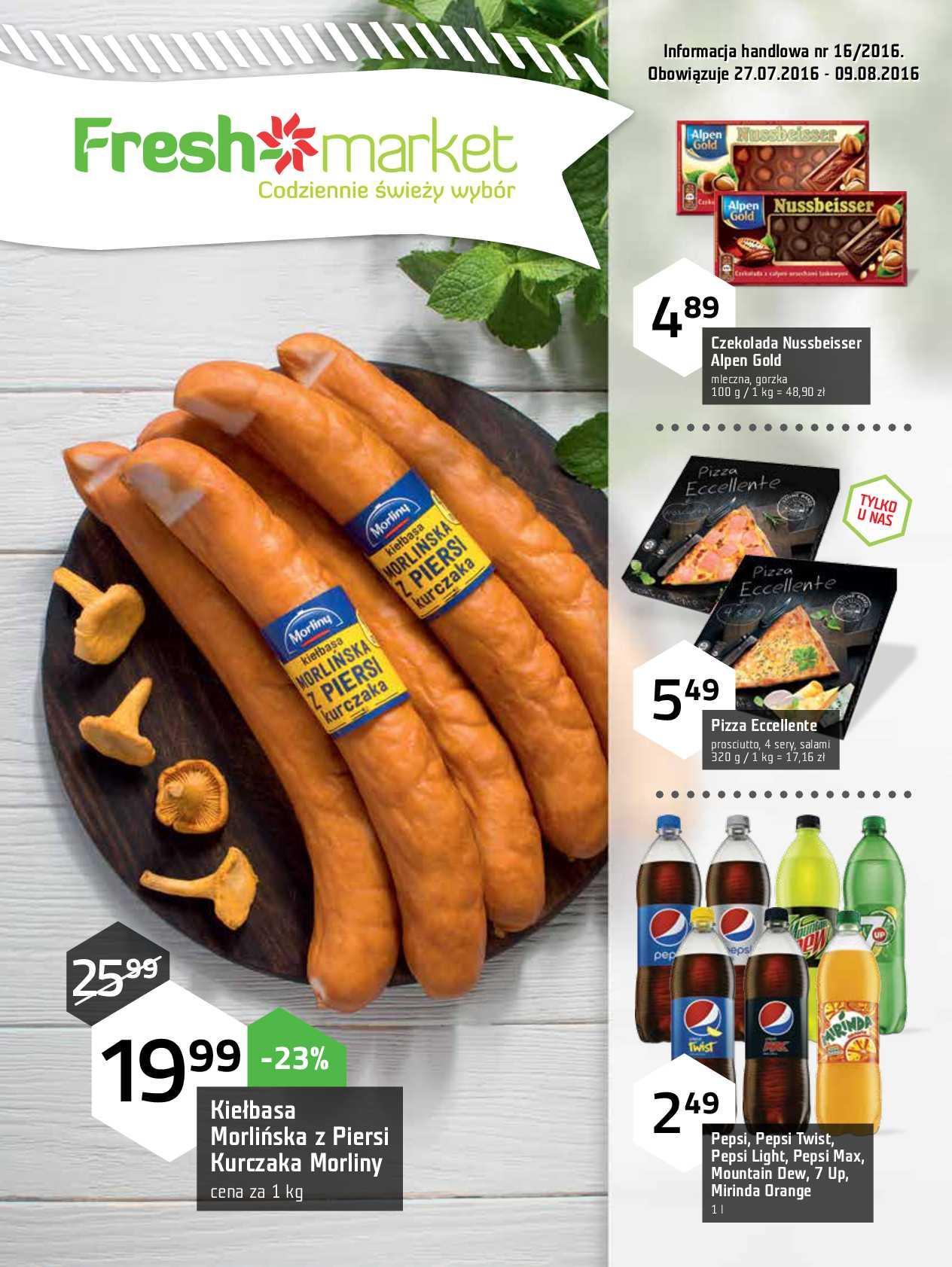 Gazetka promocyjna Freshmarket do 09/08/2016 str.0