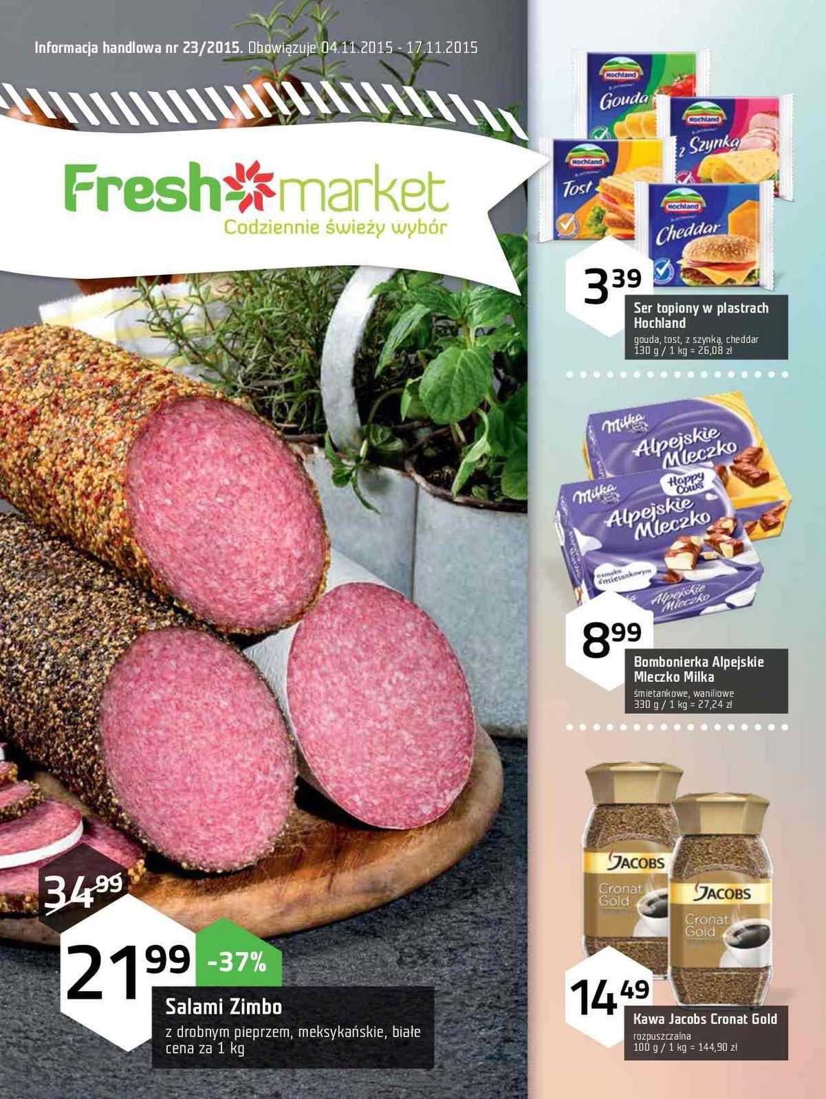 Gazetka promocyjna Freshmarket do 17/11/2015 str.0