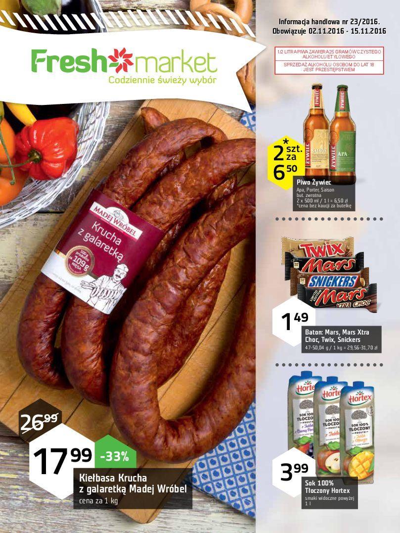 Gazetka promocyjna Freshmarket do 15/11/2016 str.0
