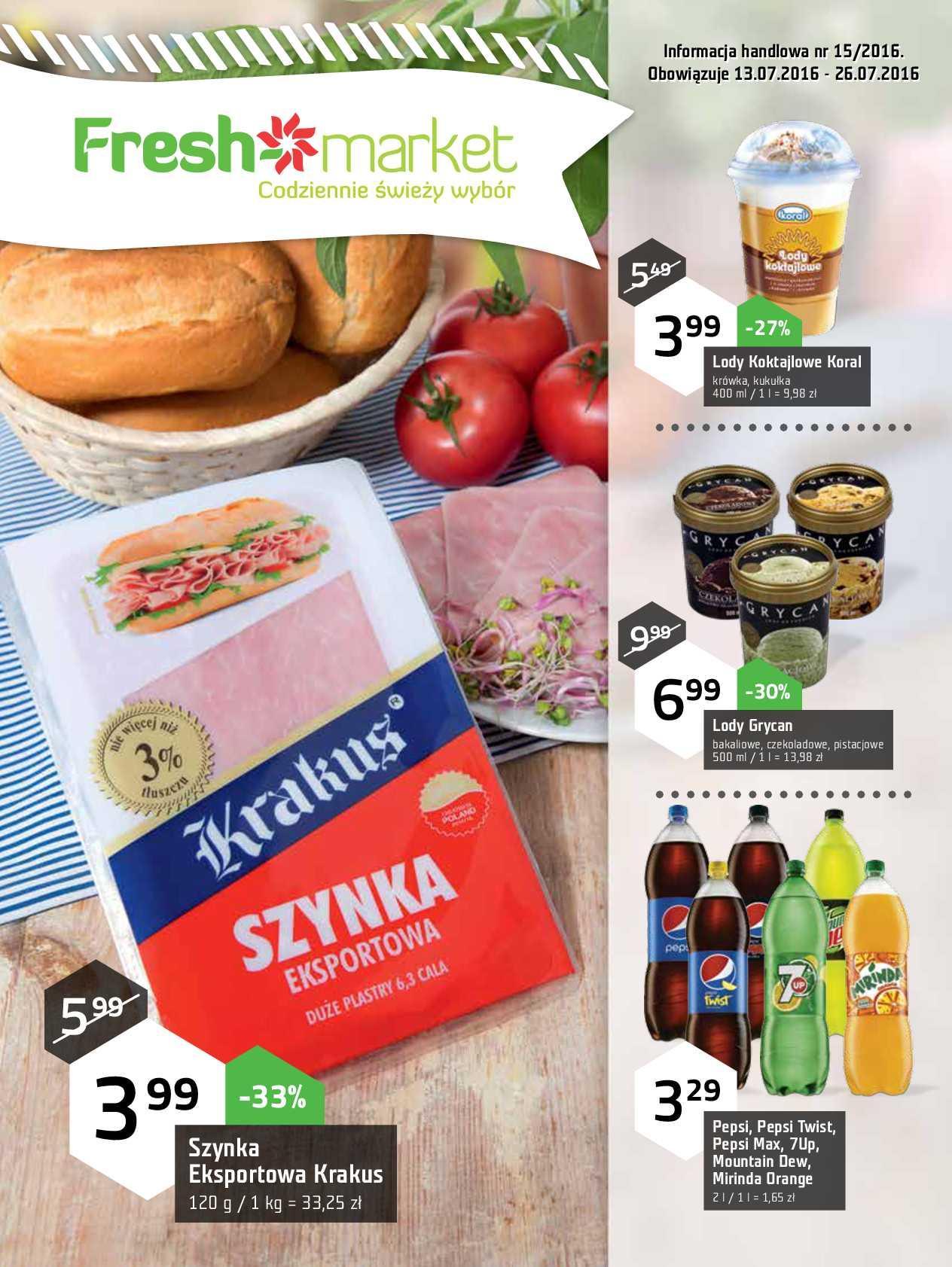 Gazetka promocyjna Freshmarket do 26/07/2016 str.0