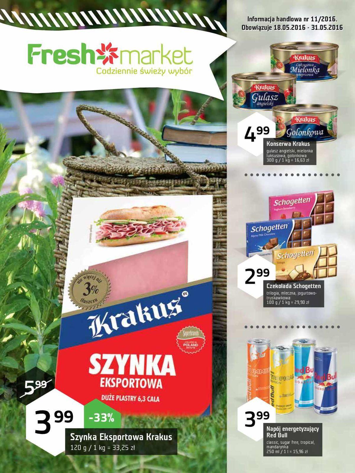 Gazetka promocyjna Freshmarket do 31/05/2016 str.0