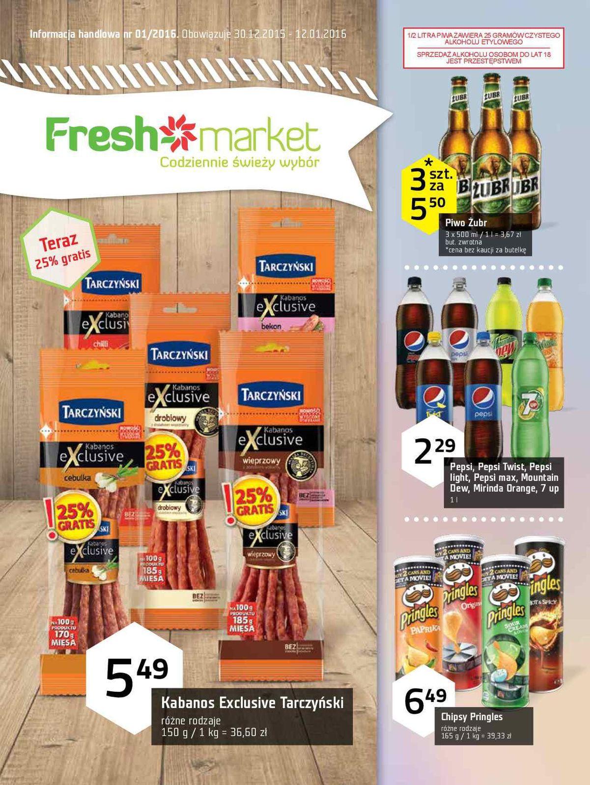 Gazetka promocyjna Freshmarket do 12/01/2016 str.0