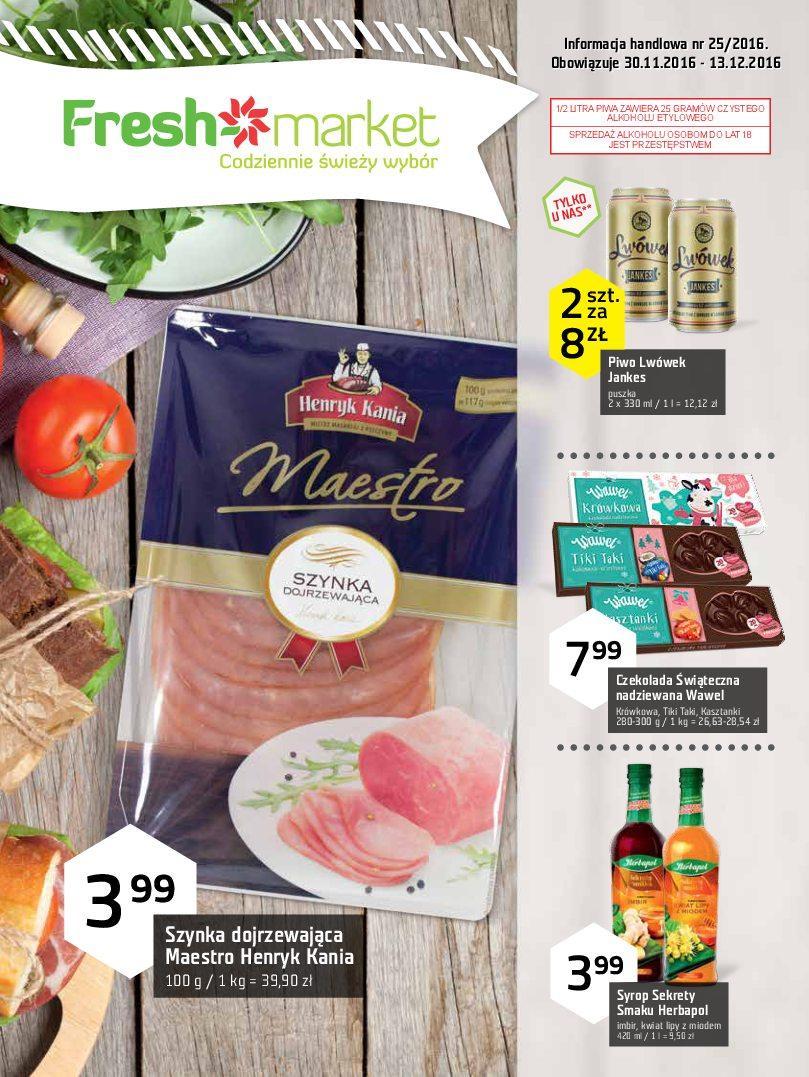 Gazetka promocyjna Freshmarket do 13/12/2016 str.0