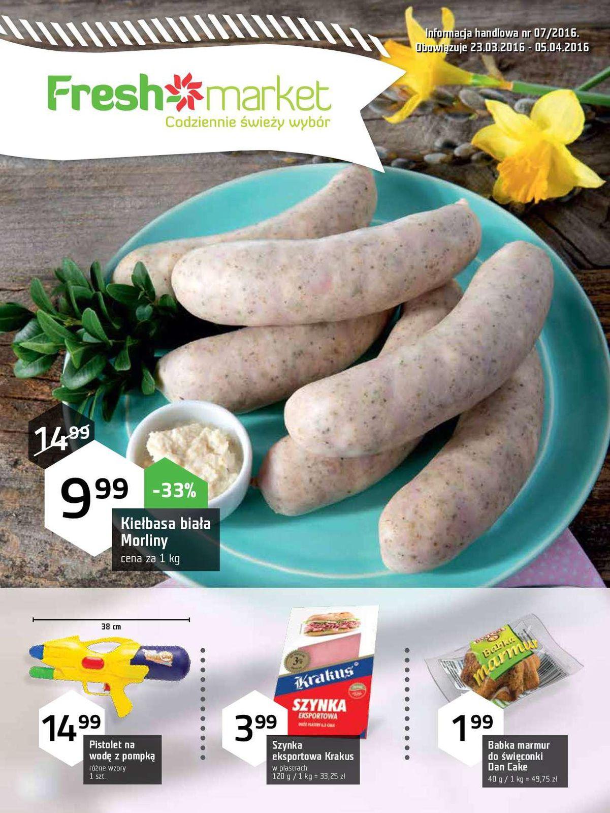 Gazetka promocyjna Freshmarket do 05/04/2016 str.0