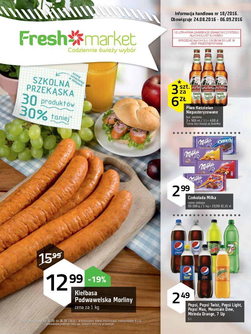 Gazetka promocyjna Freshmarket do 06/09/2016 str.0