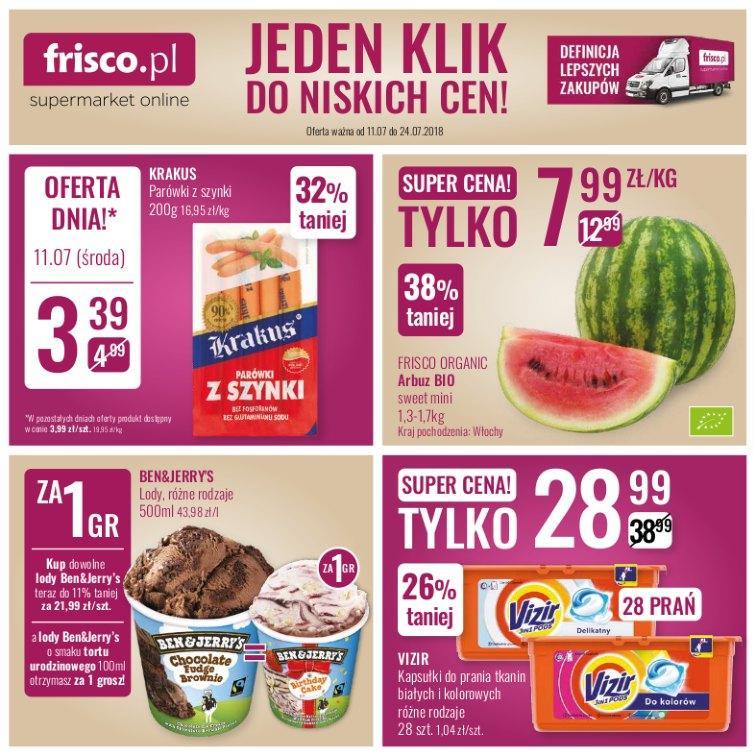Gazetka promocyjna Frisco.pl do 24/07/2018 str.1