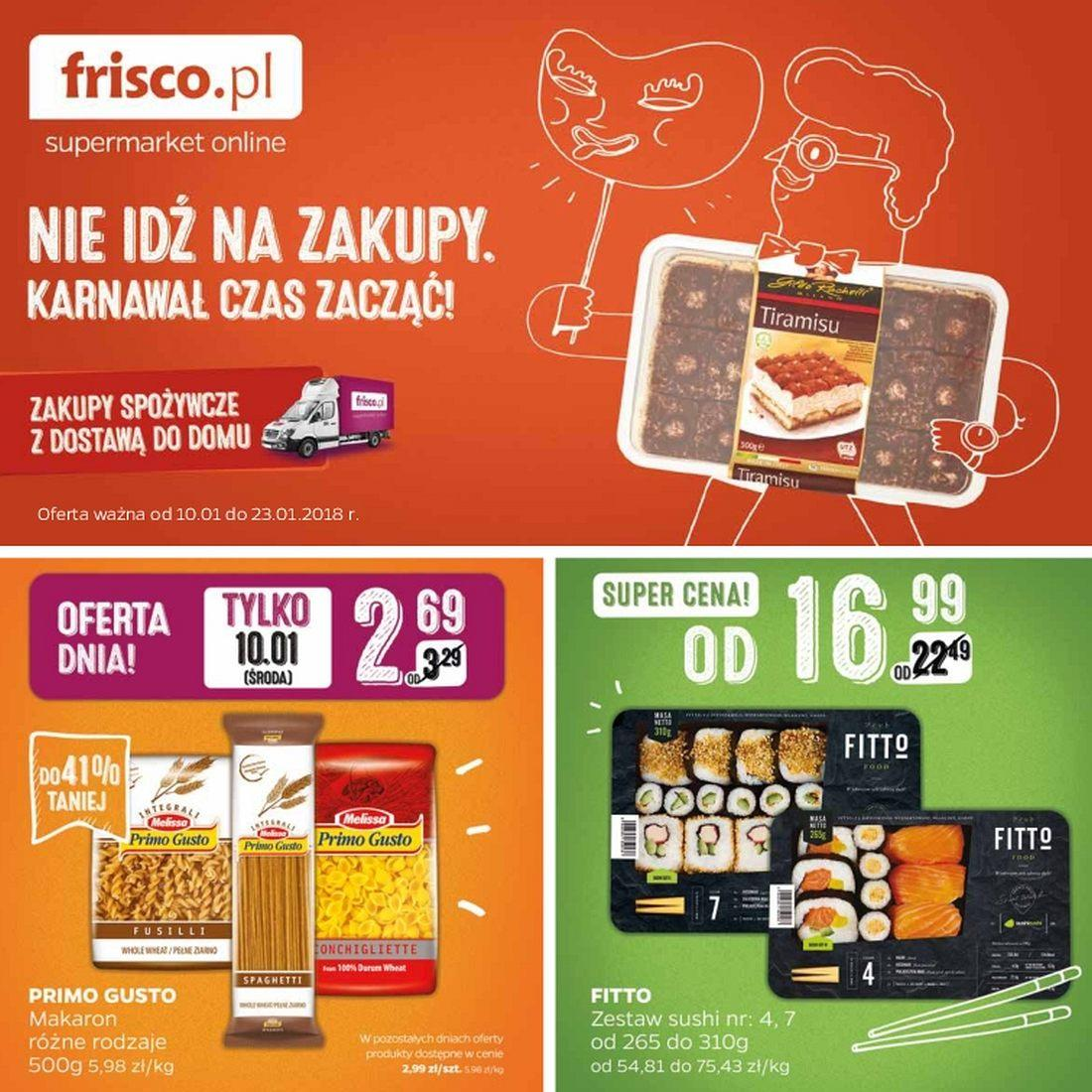 Gazetka promocyjna Frisco.pl do 23/01/2018 str.0