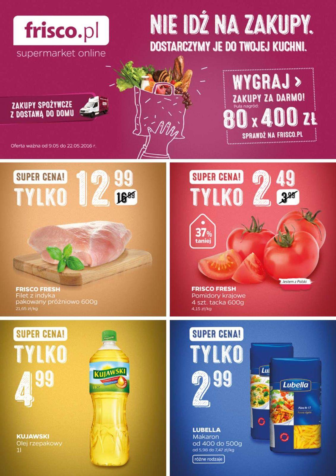 Gazetka promocyjna Frisco.pl do 22/05/2016 str.0