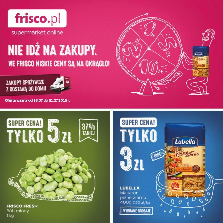 Gazetka promocyjna Frisco.pl do 31/07/2016 str.0