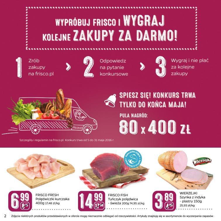 Gazetka promocyjna Frisco.pl do 05/06/2016 str.1