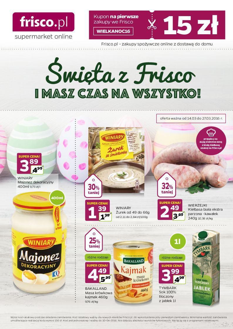 Gazetka promocyjna Frisco.pl do 27/03/2016 str.0