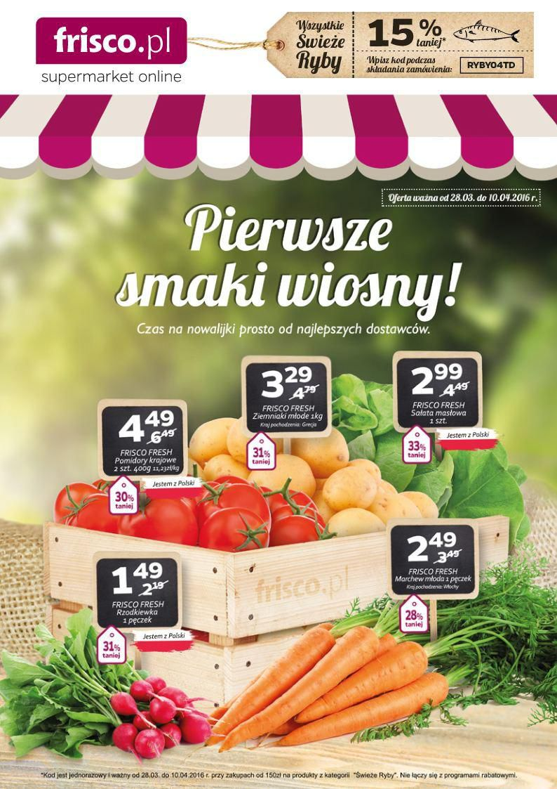 Gazetka promocyjna Frisco.pl do 10/04/2016 str.0