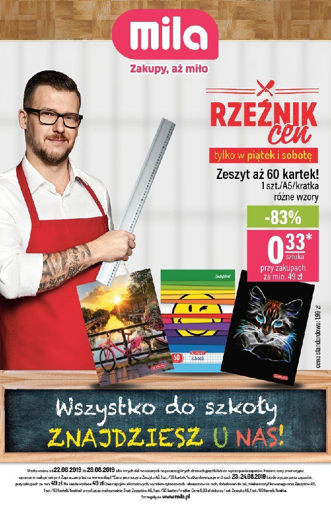 Gazetka promocyjna Mila do 28/08/2019 str.0