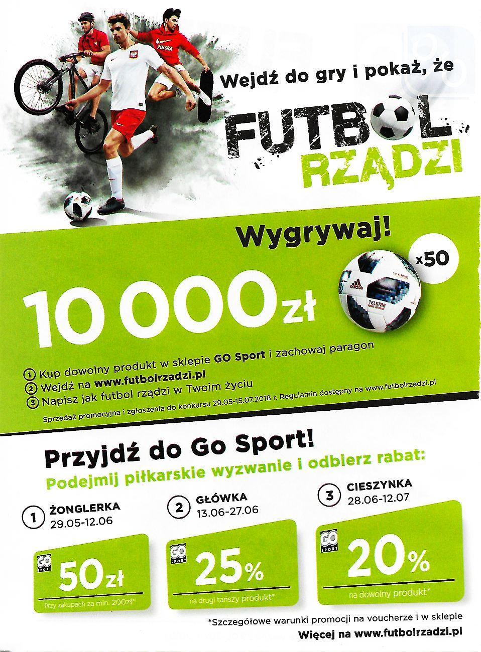 Gazetka promocyjna Go Sport do 30/06/2018 str.1