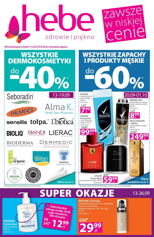 Gazetka promocyjna Hebe do 26/09/2018 str.0