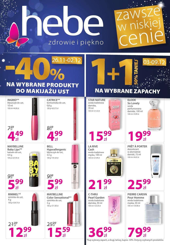Gazetka promocyjna Hebe do 09/12/2015 str.0
