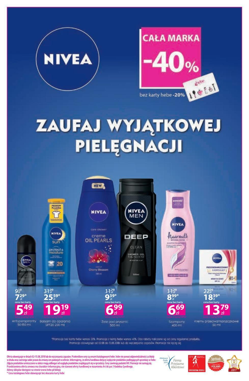 Gazetka promocyjna Hebe do 15/08/2018 str.15