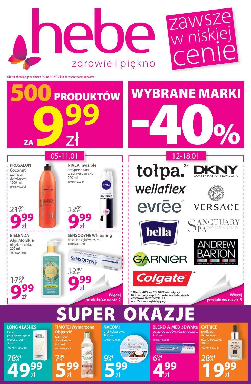 Gazetka promocyjna Hebe do 18/01/2017 str.0
