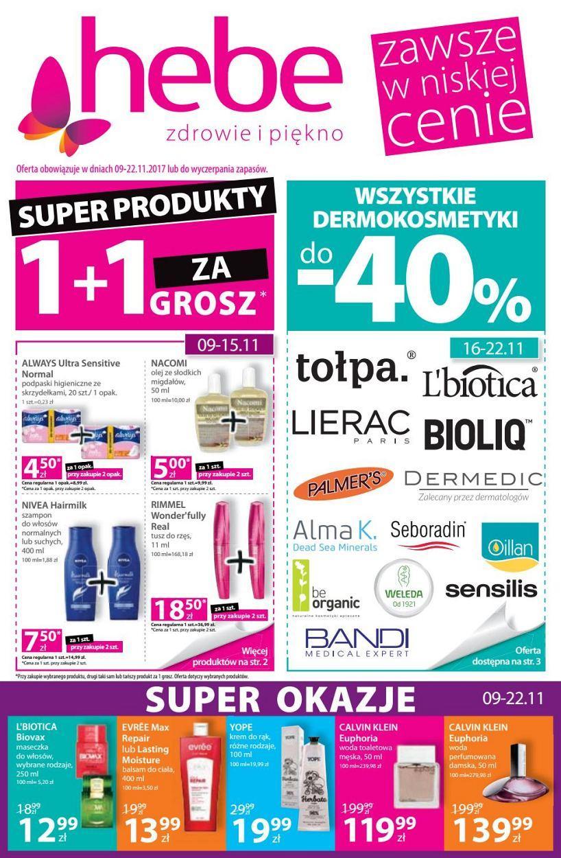 Gazetka promocyjna Hebe do 22/11/2017 str.0