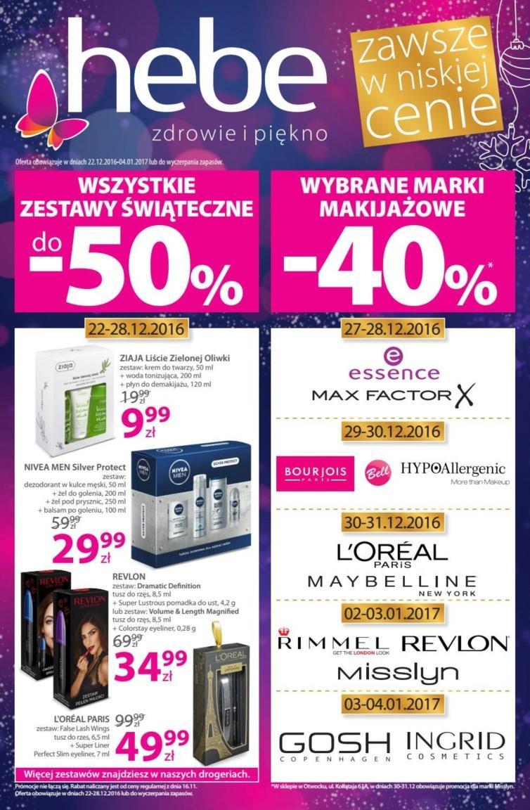 Gazetka promocyjna Hebe do 04/01/2017 str.0